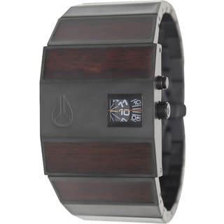 Nixon Men's Rotolog A0281107 Two-Tone Stainless-Steel Quartz Watch with Black Dial