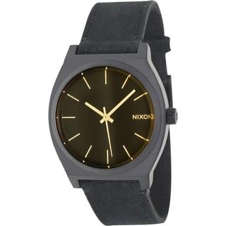 Nixon Men's Time Teller A0451354 Black Nylon Quartz Watch with Yellow Dial