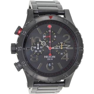 Nixon Men's 48-20 Chrono A4861320 Black Stainless Steel Quartz Watch with Black Dial