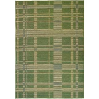 Berkshire Taconic/ Green/ Corn Area Rug (7'6 x 10'9)