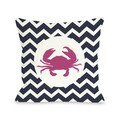 Chevron Crab Throw Pillow
