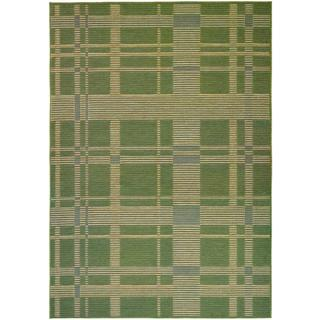 Berkshire Taconic/ Green/ Corn Area Rug (5'3 x 7'6)