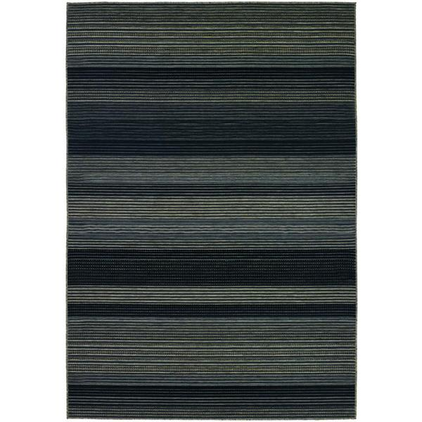 Berkshire Hoosic/ Grey/ Black Area Rug (5'10 x 9'2)