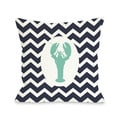 Chevron Lobster Throw Pillow