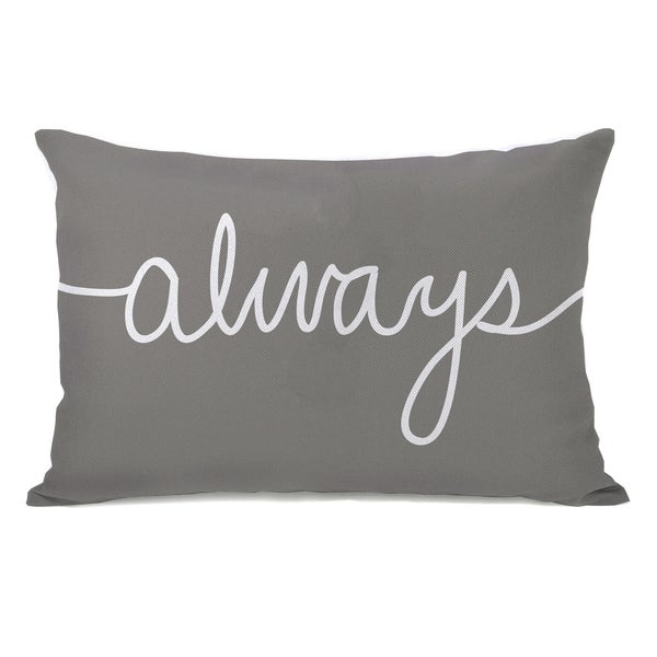 'Always' Mix and Match Grey Throw Pillow