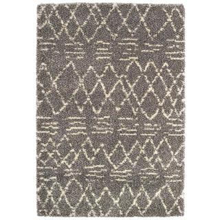 Bromley Diamondback/ Multi-Ivory Power-loomed Area Rug (7'10 x 11'2)