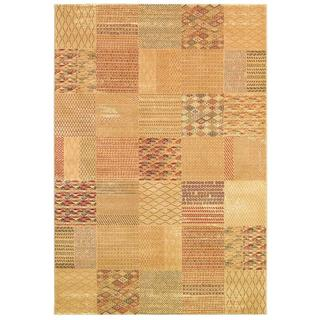 Cadence Medley/ Cream-Ruby Power-loomed Area Rug (7'10 x 10'9)