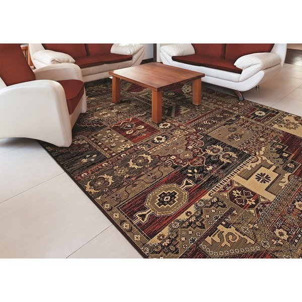 Cadence Moonlight Sonata/ Cream-Multi Power-loomed Area Rug (5'3 x 7'6)