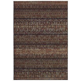 Cadence Overture/ Navy-Multi Power-loomed Area Rug (7'10 x 10'9)