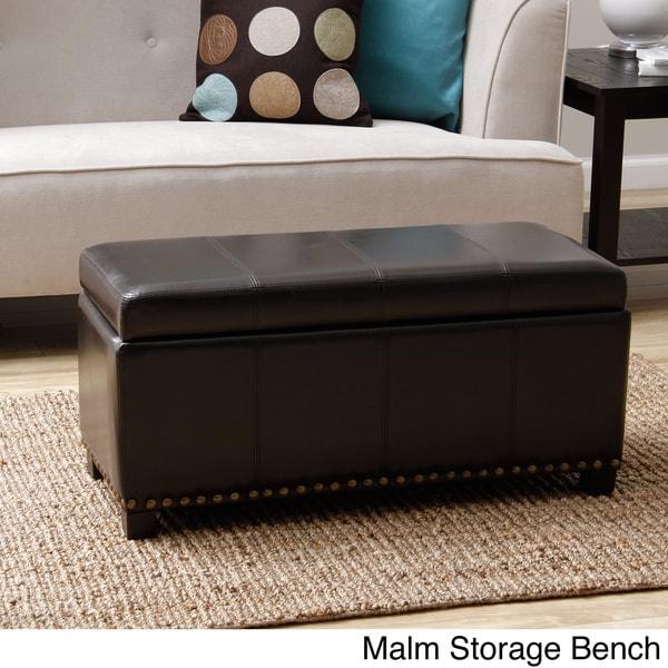 Warehouse of Tiffany 'Malm' Black Storage Bench