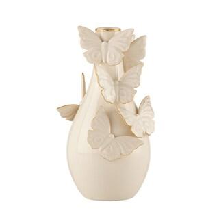 Lenox Flutter 7-inch Sculpted Butterflies Bud Vase