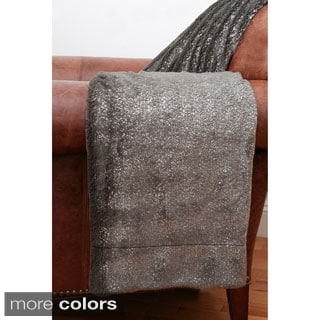 Jase Metallic Faux Fur 50 x 60-inch Throw