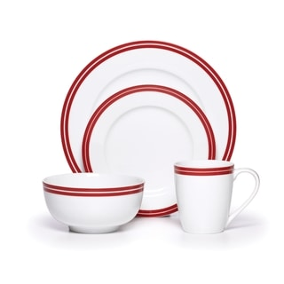 Guy Fieri Santa Rosa Red Bistro Dinnerware 16-piece Set