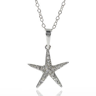 Tressa Collection Sterling Silver Cubic Zirconia Starfish Necklace
