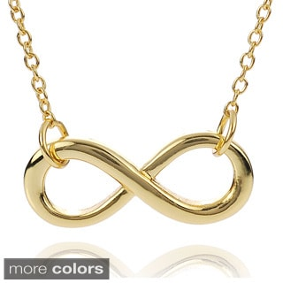 Journee Collection Sterling Silver Infinity Necklace