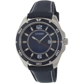 Citizen Men's Classic BK2520-02L Blue Cloth Quartz Watch with Blue Dial