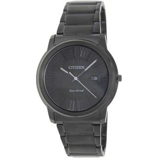 Citizen Men's Eco-Drive AW1215-54E Black Stainless-Steel Quartz Watch with Black Dial