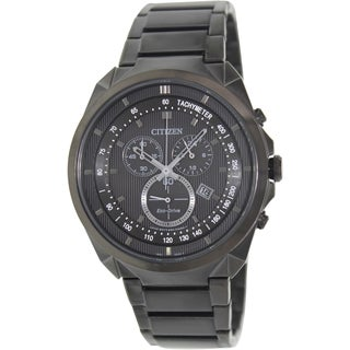Citizen Men's Eco-Drive AT2155-58E Black Stainless-Steel Quartz Watch with Black Dial