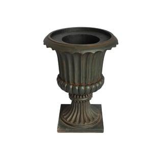 Laura Ashley Fiberstone 21.5-inch Black/ Brown Urn