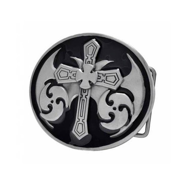 Celtic Cross Maltese Black Gothic Medieval Belt Buckle