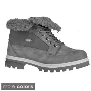 Lugz Men's 'Brigade Fold' Thermabuck Leather Ankle Boots