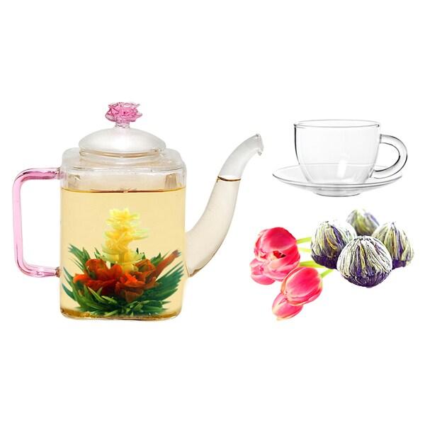 Tea Beyond Fab Flowering Jasmine Romeo Tea/ Cup Set 11843116