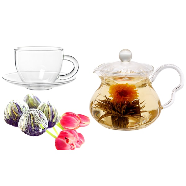Tea Beyond Fab Flowering Tea Fairy Set with Cup Set 11843131