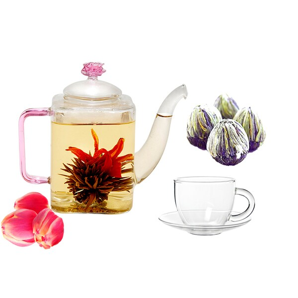 Tea Beyond Fab Flowering Tea Romeo with Cup Set 11843147