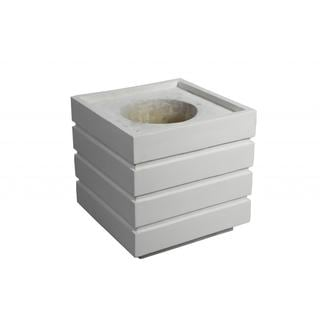 Laura Ashley Fiberstone 14-inch White Square Planter