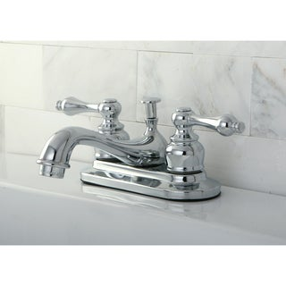 Chrome 4-inch Center Bathroom Faucet