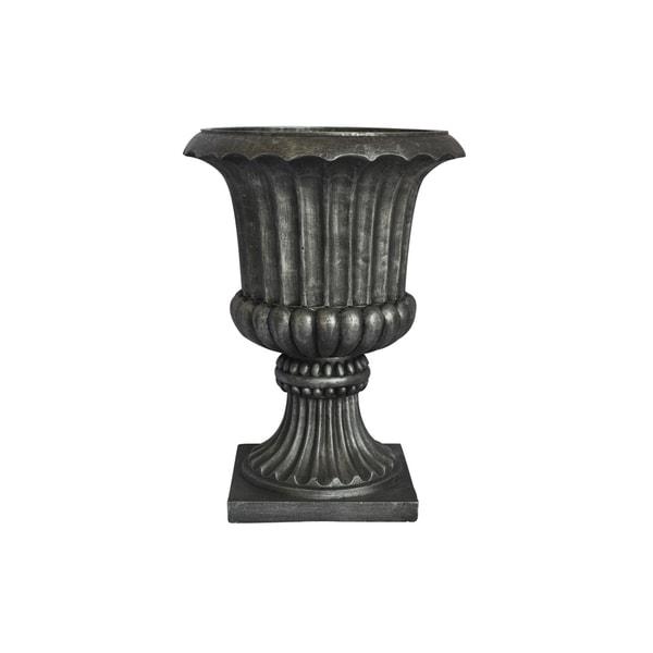 Laura Ashley 21.5-inch Black/ Grey Fiberstone Urn