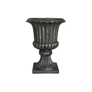 Laura Ashley 21.5-inch Black/ Grey Fiberstone Urn