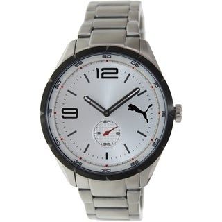Puma Men's Speed PU103111001 Silver Stainless-Steel Analog Quartz Watch with Silver Dial