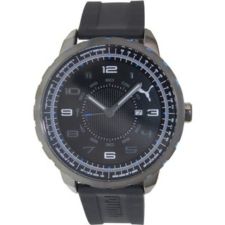 Puma Men's Power L PU103141003 Black Rubber Analog Quartz Watch with Black Dial
