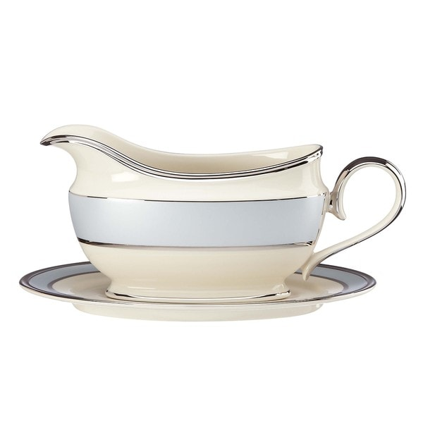Lenox Blue Frost Sauce Boat and Stand