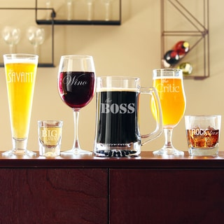 Engraved Party Glassware Set