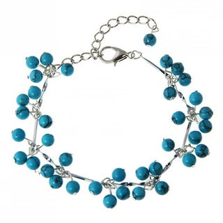 Handmade Turquoise Beaded Bracelet (China)