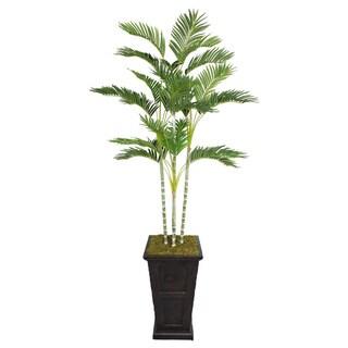 Laura Ashley 87-inch Tall Palm Tree in Fiberstone Planter