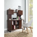 Contemporary Desk with Hutch