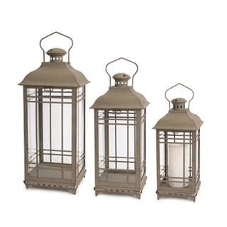 Phat Tommy Antique Grey Vintage Lantern Set