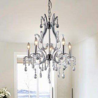 Form Crystal 5-light Chrome Chandelier