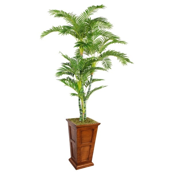 Laura Ashley 91-inch Tall Palm Tree in Fiberstone Planter