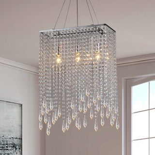 Purcelll Crystal 3-light Chrome Chandelier