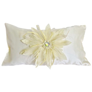 Decorative Feathered and Jeweld Bridal Feather Fill Pillow