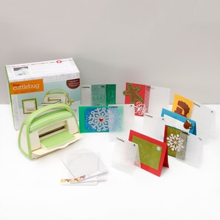 Cricut Cuttlebug Holiday Die Cutting & Embossing Bundle with Bonus Folders