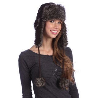 Chaos Women's Brown Nylon Quilted Trapper Hat