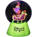 Inflatable Neon Santa and Sleigh 72-inch Snow Globe
