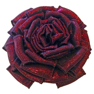 Cuff Luv Red Shimmer Magnetic Brooch
