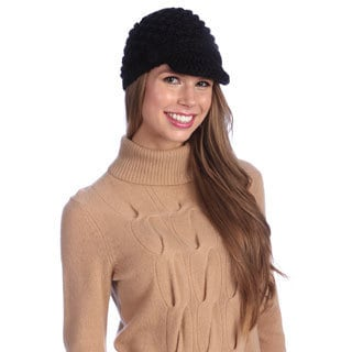 Chaos Women's Black Knit Visor Beanie