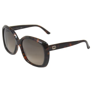Gucci Women's 'Gucci 3612/S TVDHA' Havana Brown Fashion Sunglasses